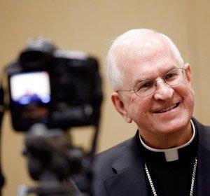 Archbishop Kurtz after his election. (CNS/Nancy Phelan Wiechec)