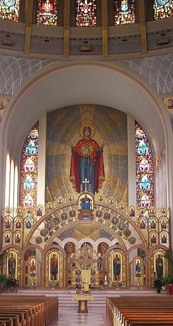 gold domed ukrainian catholic cathedral