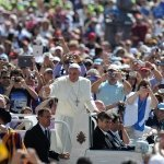 Pope Francis In Crowd