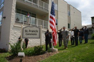 St. Francis Commons Flag Raising