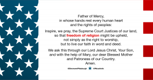 religious liberty prayer