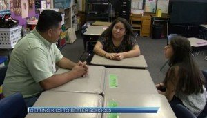 ABC27 interviews the Garcia Family at Harrisburg Catholic Elementary School.